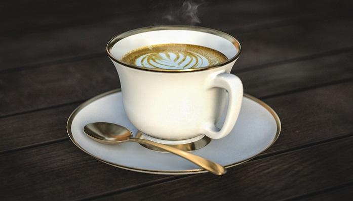 テーブルにのったコーヒー