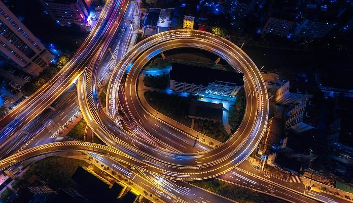 高速道路のジャンクション