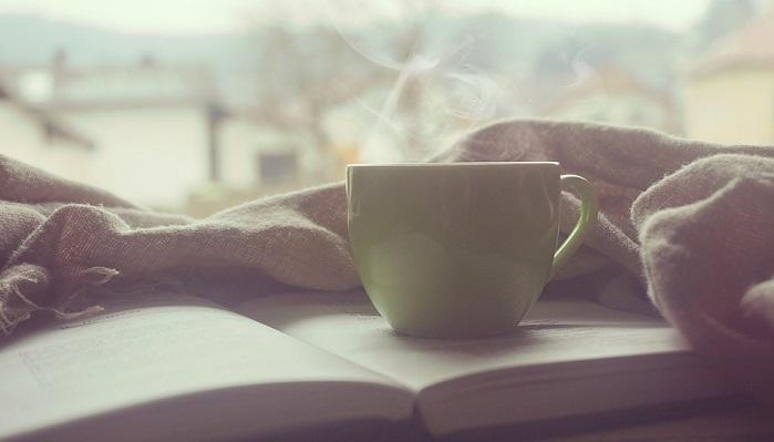 湯気がでているコーヒー