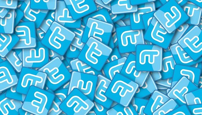 たくさんのTwitterロゴ