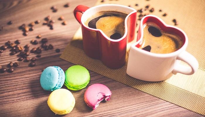コーヒーとマカロン